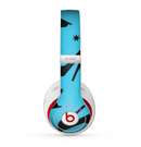 The Blue & Black High-Heel Pattern V12 Skin for the Beats by Dre Studio (2013+ Version) Headphones