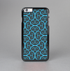 The Blue & Black Spirals Pattern Skin-Sert Case for the Apple iPhone 6 Plus