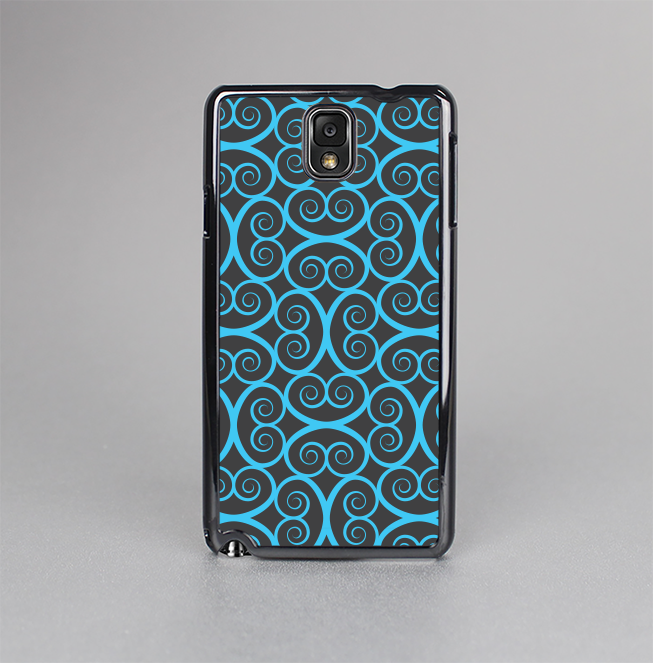 The Blue & Black Spirals Pattern Skin-Sert Case for the Samsung Galaxy Note 3