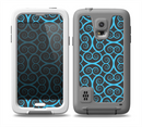 The Blue & Black Spirals Pattern Skin for the Samsung Galaxy S5 frē LifeProof Case