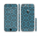 The Blue & Black Spirals Pattern Sectioned Skin Series for the Apple iPhone 6s
