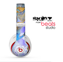 The Blue Bright Watercolor Butter-Floral Skin for the Beats Studio for the Beats Skin