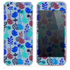 The Blue & Burgundy Vector Tweety Birds Skin for the iPhone 3, 4-4s, 5-5s or 5c