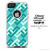The Blue Chevron Locking Bars Skin For The iPhone 4-4s or 5-5s Otterbox Commuter Case