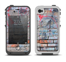 The Blue Chipped Graffiti Wall Apple iPhone 4-4s LifeProof Fre Case Skin Set