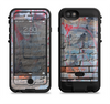 the blue chipped graffiti wall  iPhone 6/6s Plus LifeProof Fre POWER Case Skin Kit