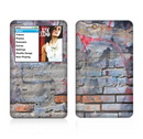 The Blue Chipped Graffiti Wall Skin For The Apple iPod Classic