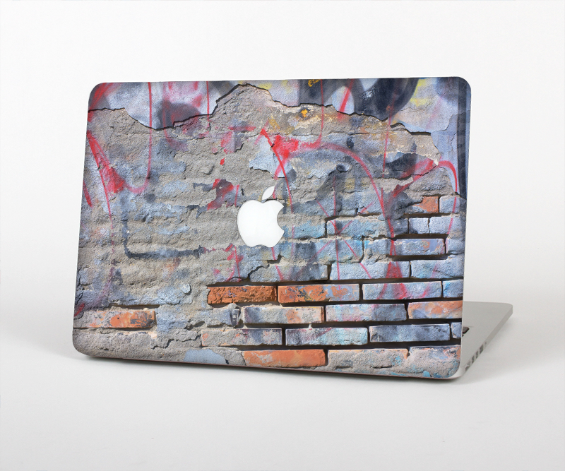 "The Blue Chipped Graffiti Wall Skin Set for the Apple MacBook Pro 15"" with Retina Display"
