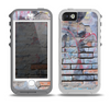 The Blue Chipped Graffiti Wall Skin for the iPhone 5-5s OtterBox Preserver WaterProof Case