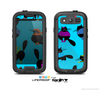 The Blue & Cute Fashion Cats Skin For The Samsung Galaxy S3 LifeProof Case