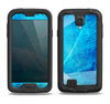 The Blue DIstressed Waves Samsung Galaxy S4 LifeProof Fre Case Skin Set