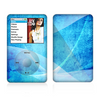 The Blue DIstressed Waves Skin For The Apple iPod Classic