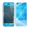 The Blue DIstressed Waves Skin for the Apple iPhone 5c