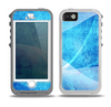 The Blue DIstressed Waves Skin for the iPhone 5-5s OtterBox Preserver WaterProof Case