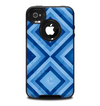 The Blue Diamond Pattern Skin for the iPhone 4-4s OtterBox Commuter Case