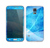 The Blue Distressed Waves Skin For the Samsung Galaxy S5