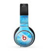 The Blue Distressed Waves Skin for the Beats by Dre Pro Headphones