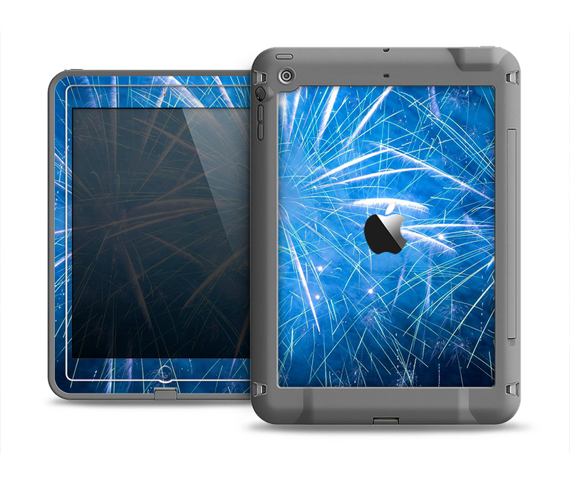 The Blue Fireworks Apple iPad Air LifeProof Fre Case Skin Set