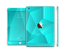 The Blue Geometric Pattern Full Body Skin Set for the Apple iPad Mini 3