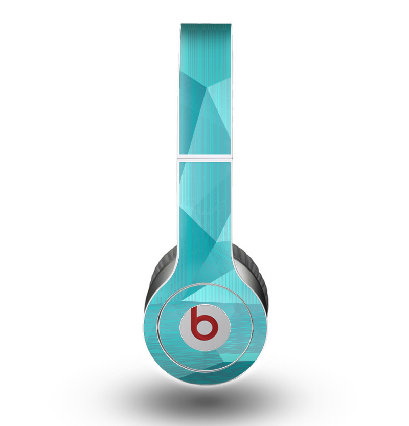 The Blue Geometric Pattern Skin for the Beats by Dre Original Solo-Solo HD Headphones