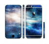 The Blue & Gold Glowing Star-Wave Sectioned Skin Series for the Apple iPhone 6 Plus