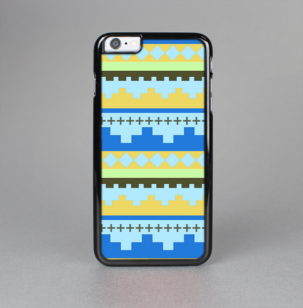 The Blue & Gold Tribal Ethic Geometric Pattern Skin-Sert Case for the Apple iPhone 6 Plus