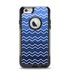 The Blue Gradient Layered Chevron Apple iPhone 6 Otterbox Commuter Case Skin Set