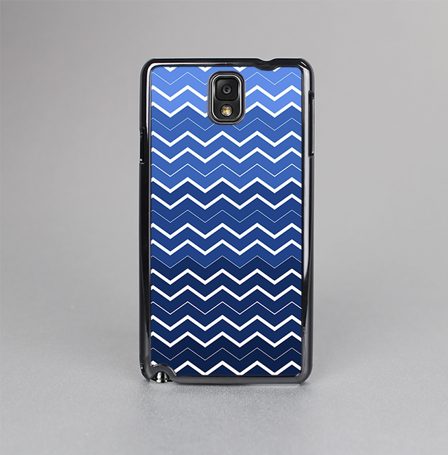 The Blue Gradient Layered Chevron Skin-Sert Case for the Samsung Galaxy Note 3
