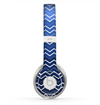 The Blue Gradient Layered Chevron Skin for the Beats by Dre Solo 2 Headphones