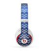 The Blue Gradient Layered Chevron Skin for the Beats by Dre Studio (2013+ Version) Headphones