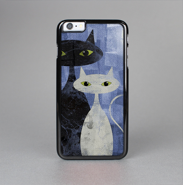The Blue Grungy Textured Cat Skin-Sert Case for the Apple iPhone 6 Plus