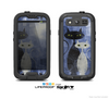 The Blue Grungy Textured Cat Skin For The Samsung Galaxy S3 LifeProof Case