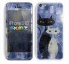 The Blue Grungy Textured Cat Skin for the Apple iPhone 5c