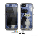 The Blue Grungy Textured Cat Skin for the Apple iPhone 5c LifeProof Case