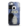 The Blue Grungy Textured Cat Skin for the iPhone 5c OtterBox Commuter Case