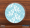 The Blue Hawaiian Floral Skinned Foam-Backed Coaster Set