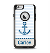 The Blue Highlighted Anchor with Rope Name Script Apple iPhone 6 Otterbox Commuter Case Skin Set