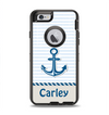 The Blue Highlighted Anchor with Rope Name Script Apple iPhone 6 Otterbox Defender Case Skin Set