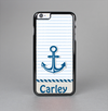 The Blue Highlighted Anchor with Rope Name Script Skin-Sert Case for the Apple iPhone 6 Plus