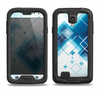 The Blue Levitating Squares Samsung Galaxy S4 LifeProof Fre Case Skin Set