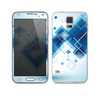 The Blue Levitating Squares Skin For the Samsung Galaxy S5