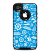 The Blue Nautical Collage Skin for the iPhone 4-4s OtterBox Commuter Case