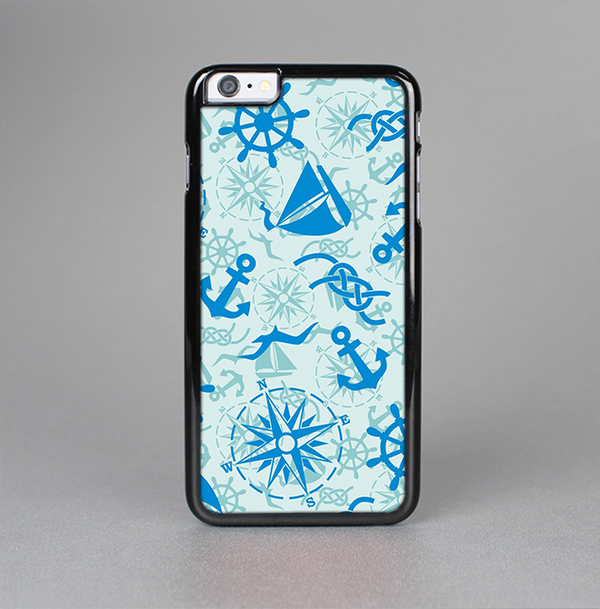 The Blue Nautical Collage V5 Skin-Sert Case for the Apple iPhone 6 Plus