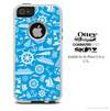 The Blue Nautical Skin For The iPhone 4-4s or 5-5s Otterbox Commuter Case