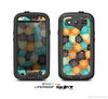 The Blue & Orange Abstract Polka Dots Skin For The Samsung Galaxy S3 LifeProof Case