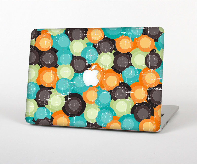 "The Blue & Orange Abstract Polka Dots Skin Set for the Apple MacBook Pro 15"" with Retina Display"