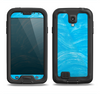The Blue Painted Brush Texture Samsung Galaxy S4 LifeProof Fre Case Skin Set