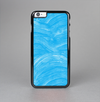 The Blue Painted Brush Texture Skin-Sert Case for the Apple iPhone 6 Plus