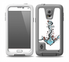 The Blue Pastel Anchor with Roses Skin for the Samsung Galaxy S5 frē LifeProof Case