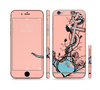 The Blue Pastel Anchor with Roses Sectioned Skin Series for the Apple iPhone 6